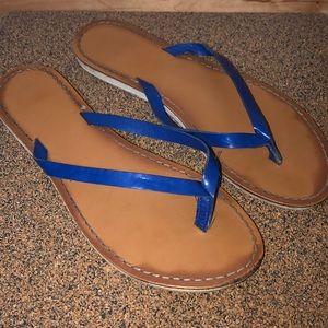 Blue Strap Flip-Flops